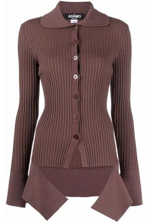 Adamo Button-up ribbed knitted top