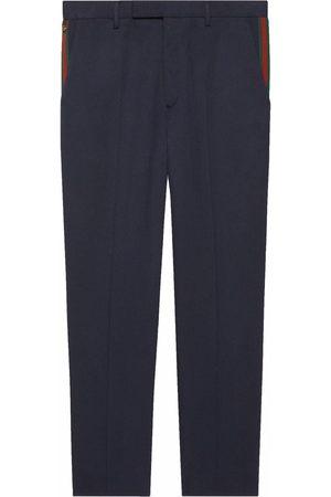 Gucci Web-stripe trim trousers