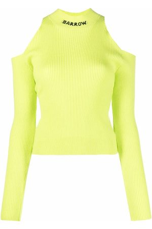 BARROW Cold-shoulder high-neck sweater