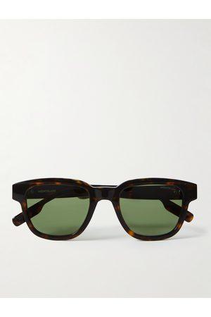 Montblanc Homem Óculos de Sol - Square-Frame Acetate Sunglasses