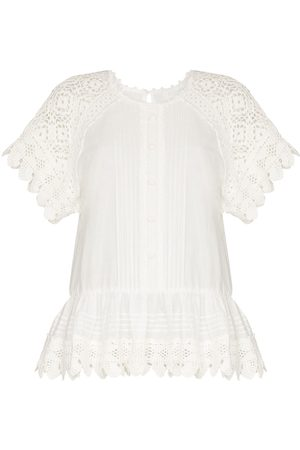 ZIMMERMANN Aliane short sleeve crochet shirt