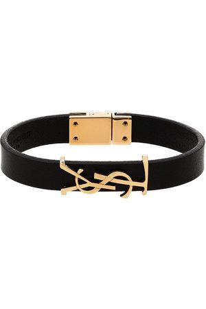 Saint Laurent Homem Pulseiras - Opyum leather bracelet