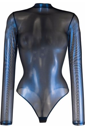 MAISON CLOSE Mulher Bodies interiores - Angel long-sleeve string bodysuit