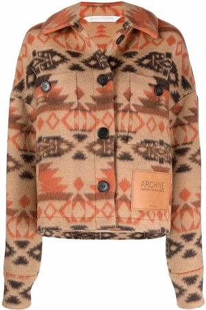 Palm Angels Mulher Polares - Archive fleece jacket