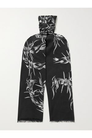 Givenchy Fringed Printed Modal and Cashmere-Blend Scarf