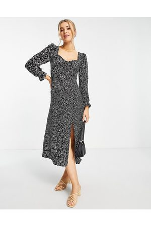 Nobody's Child Mulher Vestidos Casual - Rosie dot midi dress in black
