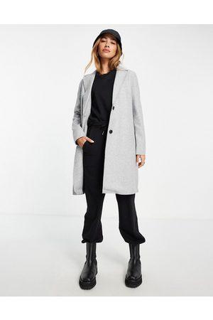 VERO MODA Mulher Casacos - Tailored coat in grey