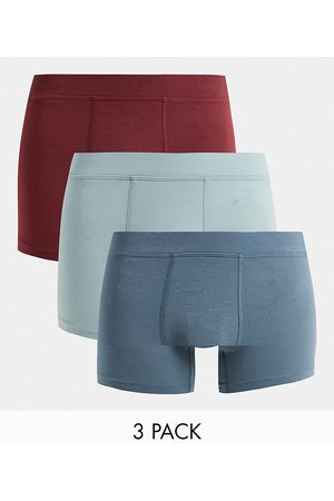 Gilly Hicks 3 pack future stretch trunks in port red/silver/mid blue-Multi