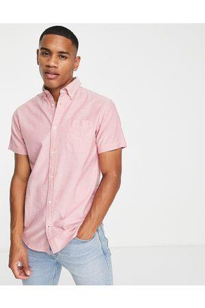 JACK & JONES Essentials oxford shirt short sleeves in pink