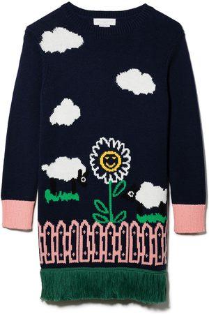 Stella McCartney Intarsia-garden knitted dress