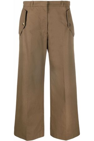 Kenzo Mulher Calças - Cropped flared trousers