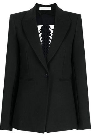 DION LEE Single-breasted braided blazer