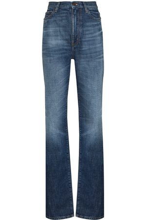 Saint Laurent Mulher Bootcut & Boca-de-sino - Flared high-waisted jeans