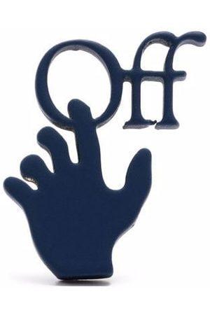 OFF-WHITE Hands Off logo single earring