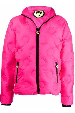 BARROW Logo-embossed fluorescent hooded jacket