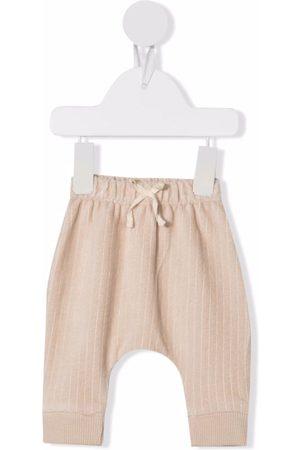 KNOT Bebé Calças - Ribbed-detail drawstring trousers