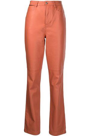PROENZA SCHOULER WHITE LABEL Straight-leg lambskin trousers