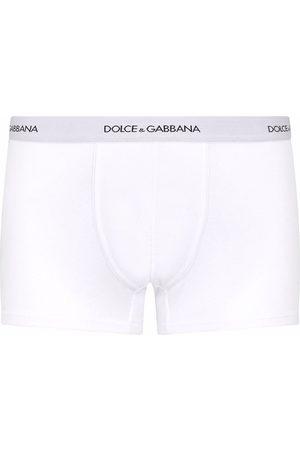 Dolce & Gabbana Homem Boxers - Logo waistband cotton boxer shorts
