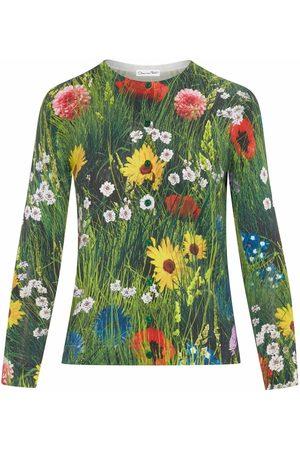 Oscar de la Renta Meadow-print knitted jumper