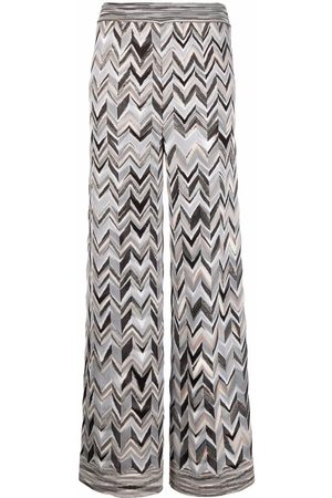 Missoni Chevron pattern knitted trousers