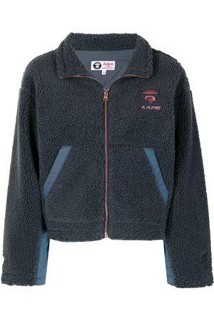 AAPE BY A BATHING APE Zipped long-sleeve fleece