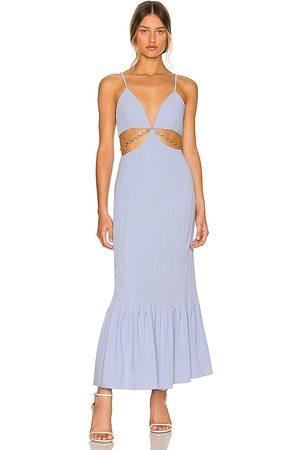 JONATHAN SIMKHAI Ayla Cutout Maxi Dress in - Lavender. Size 0 (also in 10, 2, 4, 6, 8).