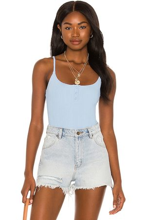 ONIA Mulher Bodies interiores - Active Henley Bodysuit in - Blue. Size L (also in M, S, XS).