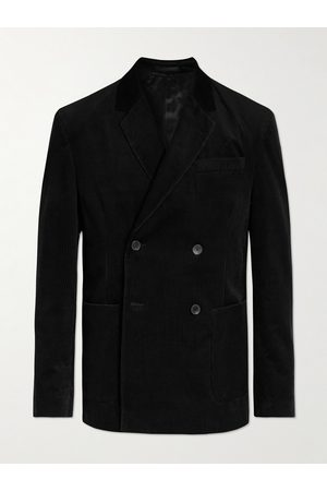 Mr P. Double-Breasted Cotton and Cashmere-Blend Corduroy Blazer