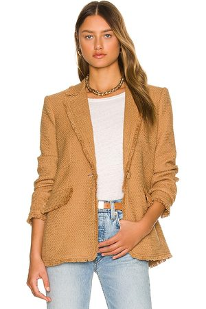 Cinq A Sept Mulher Blazers - Boucle Khloe Blazer in - Tan. Size 0 (also in 00).