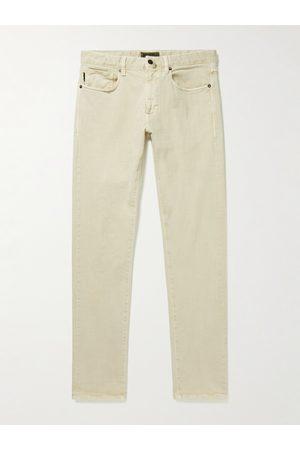 Incotex Homem Calças Justas - Slim-Fit Stretch-Cotton Twill Trousers