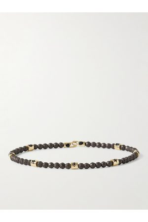 LUIS MORAIS Gold Hematite Beaded Bracelet
