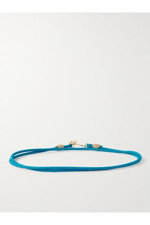LUIS MORAIS Homem Pulseiras - 14-Karat Gold and Cord Wrap Bracelet