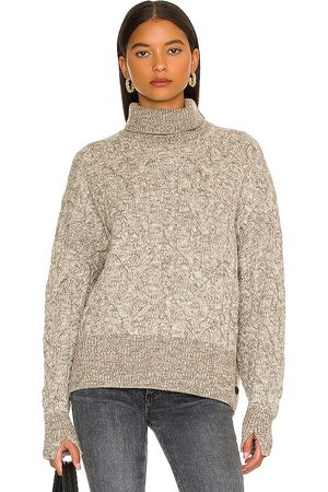 RAG&BONE Nora Cable Turtleneck Sweater in - Taupe. Size L (also in M, S, XS).