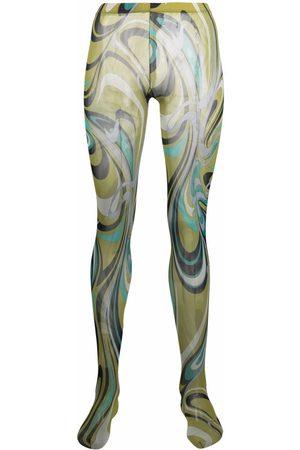 Emilio Pucci Mulher Conjuntos de Lingerie - Semi-sheer graphic-print tights