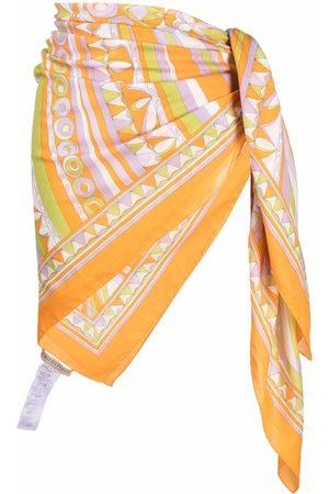 Emilio Pucci Graphic-print side tie-fastening skirt