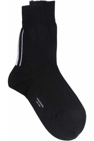 Thom Browne Grosgrain-trim ankle socks