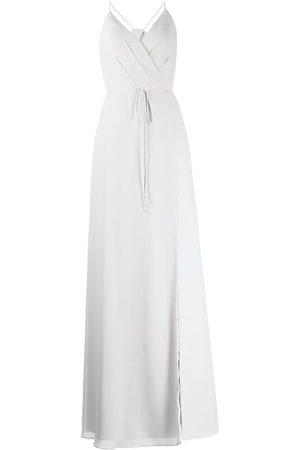 Marchesa Notte Halterneck tie-waist evening gown
