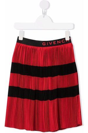 Givenchy Logo pleated shift skirt