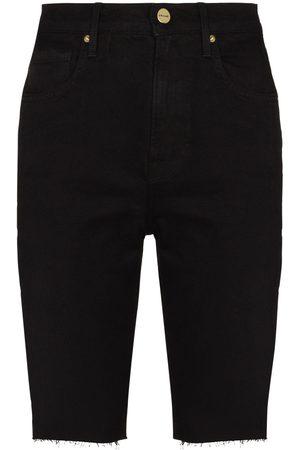 Frame Mulher Bermudas - Le Vintage Bermuda raw-edge shorts