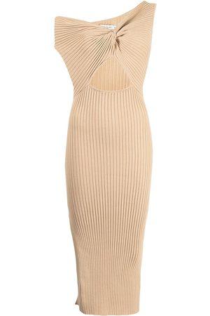Anna Quan Zanita twist-detail knitted dress
