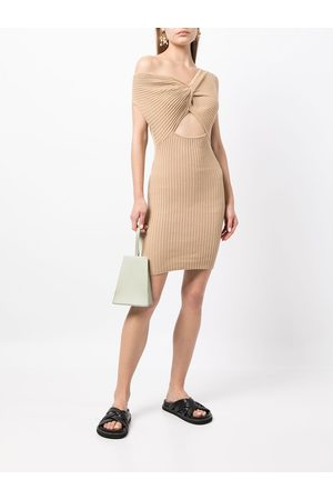 Anna Quan Mulher Camisolas - Zali twist-detail knitted dress