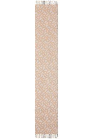 Burberry Reversible monogram cashmere scarf