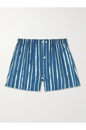 ANONYMOUS ISM Homem Boxers - Slim-Fit Printed Cotton and Linen-Blend Boxer Shorts