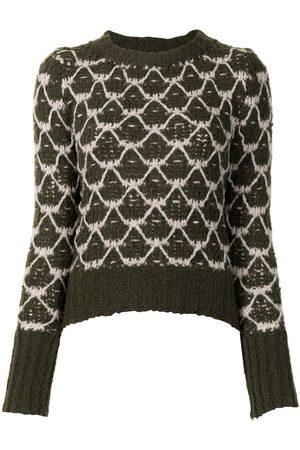 Lorena Antoniazzi Mulher Camisolas - Diamond intarsia knit jumper
