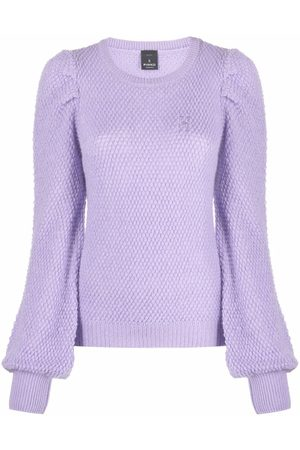 Pinko Punched hole-effect crew-neck jumper
