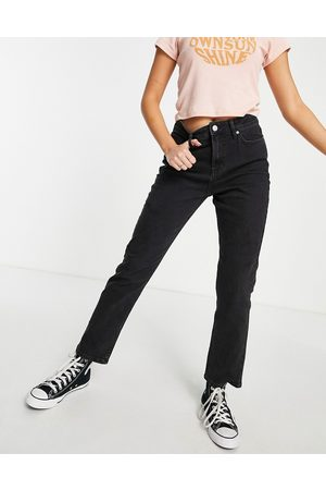 Miss Selfridge Mulher Cintura Subida - High waist slim leg jean in black