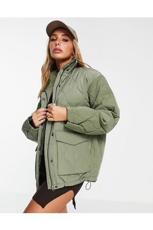 & OTHER STORIES Mulher Casacos - Recycled polyamide quilted jacket in khaki-Green