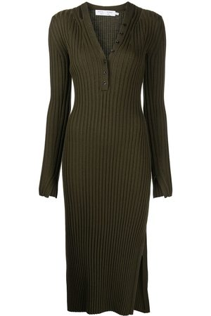 PROENZA SCHOULER WHITE LABEL Long-sleeve ribbed-knit dress