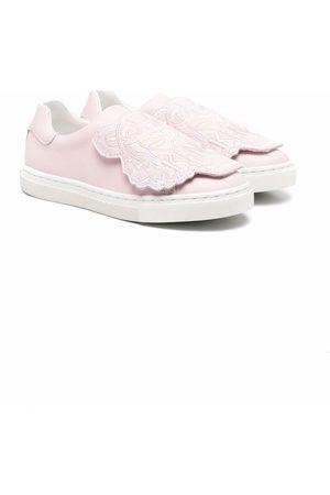 Kenzo Tiger-motif slip-on sneakers
