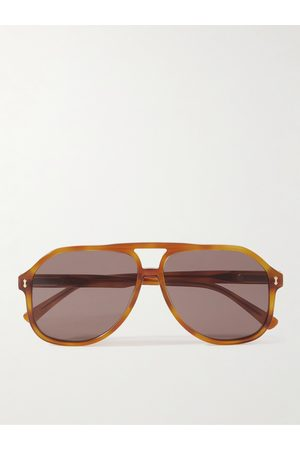 Gucci Homem Óculos de Sol - Aviator-Style Acetate Sunglasses